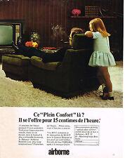 PUBLICITE  1967   AIRBORNE   fauteuil relaxair