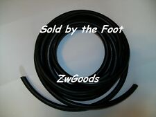 "1/2"" I.D x 1/16"" w x 5/8"" O.D Surgical Latex Rubber Tubing Black By The Foot"