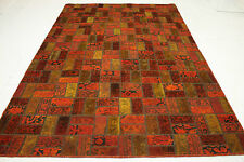 Orient Tapis Patchwork Vintage overdyed red rouge moderne 310x200 Used Look 1867