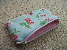 Handmade with Cath Kidston Mini Strawberry Blue - Fabric Coin Purse
