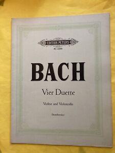 Bach Vier Duette Violine Violoncello Noten Notenbuch