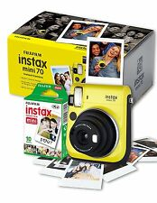 Instax Mini 70 Camera with 10 Shots - Yellow