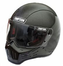 Simpson M30 Bandit Carbon Fibre Helmet Dot Approved XL Extra Large 62cm 7 3/4