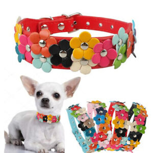 Adjustable Pet Dog Faux Leather Collar Puppy Cat Buckle Neck Strap Supply XS/S/M
