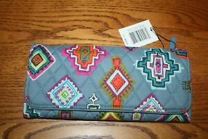 VERA BRADLEY RFID TRIFOLD WALLET Painted Medallions clutch coin travel  NWT