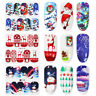 Nail Art Water Decals Nail Transfer Stickers Leaf Flowers Christmas Decoration