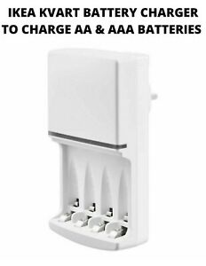 IKEA KVART BATTERY CHARGER TO CHARGE  AA & AAA BATTERIES Only Charger No Battery