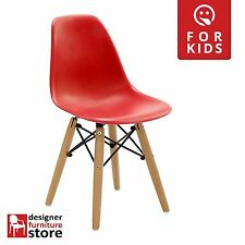 Replica Charles Eames DSW Kids Chair (Beech Wood Legs) - Red