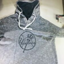 New York Yankees Gray Top Hat Logo Hoodie Size Large Brand New Draw String