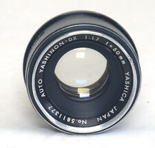 YASHICA M42 Auto YASHINON-DX  50mm f/1.7 SCREW Mount Yashica Pentax Zenit Lens