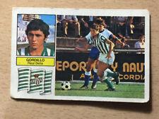 Cromo GORDILLO - Real Betis  - EDICIONES ESTE  82 83