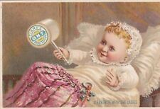 TC: Clark's Trade Mark O.N.T, Spool Cotton, George A. Clark, Baby & Rattle,1890s