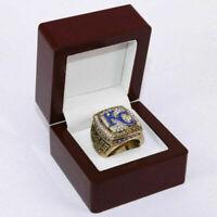 2015 Kansas City Royals World Series Championship Ring PEREZ 18k GOLD PLATE USA*