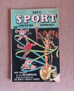 1947 True Sport Picture Stories Nov Dec Vol 4 #4 VG/EX Olympics Football