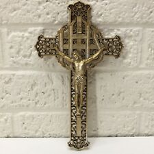 VTG‼ Consolidated Molded Products Corp Plastic Crucifix Jesus Cross 8.25