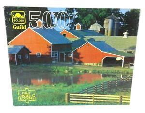 NIB Vintage Golden Guild 500 Piece Puzzle Newbury Vermont 4615-50 SEALED BOX