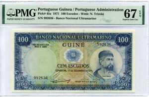 Portuguese Guinea 100 Escudos 1971 P 45 a Superb Gem UNC PMG 67 EPQ