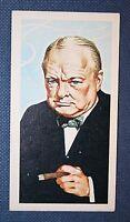 Sir Winston Churchill     Vintage  Illustrated Card  EXC