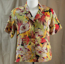 Notations, Size 10, Floral Print Button Front Top