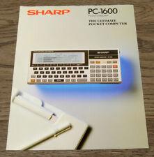 RARE Original Vintage Sharp PC-1600 Pocket Computer Sales/Advertising Brochure