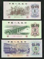Chine : 1 / 2 / 5 Jiao 1962 et 1972 NEUF / UNC