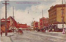 View on Pipestone Street in Benton Harbor MI Postcard