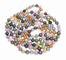 5 in 1 Natural Multi-colour Freshwater Pearl Necklace 120cm