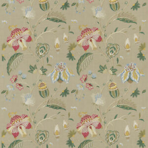 Therapia Linen - GP & J Baker - Embroidered Buds & Blooms Fabric - 3m Piece