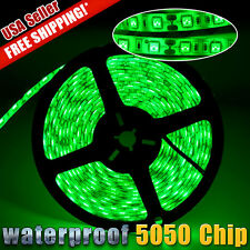 16.4FT 5050 SMD Green Waterproof Flexible LED Strip Home Light 5M 300 LED 12V US
