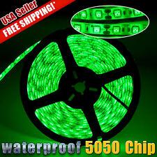 16.4FT 5050 SMD Green Waterproof Flexible LED Strip Home Light 5M 300 LED 12V US