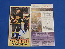 PAVEL BURE SIGNED TALL CARD ~ 1993 FLEER #10 ~ JSA Cert L79826 ~ HOCKEY