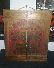 Vintage Budweiser storage cabinet.