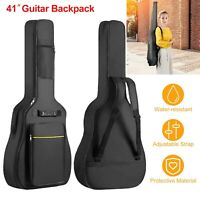 """Thicken Soft Padded 41"""" Inch Electric Bass Acoustic Guitar Case Carry Bag"""