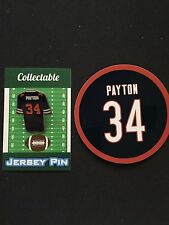 Chicago Bears Walter Payton lapel pin & magnet-Classic Collectable Gift Item