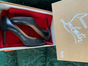 Christian Louboutin Black Leather Simple Pump Size 36 1/2 Orignally $695