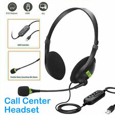 Usb Headset w/ Microphone Noise Cancelling Computer Headphone for Pc Chat Office