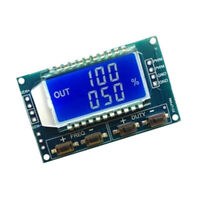 LCD Signal Generator PWM Pulse Frequency Duty Cycle 3.3V-30V Adjustable Module/.
