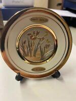 The Art Of Chokin 24K Gold Edged 4-inch Japanese Porcelain Plate