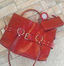 wilson leather pelle studio laptop work red bag