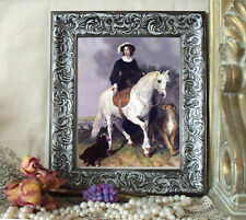 Sidesaddle Lady LANDSEER Horse Art Print Antique Vintage Styl Framed 11X13