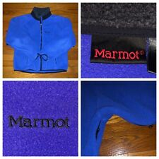 Marmot Men's Blue Purple Full Zip Fleece Sweater Jacket Size Medium