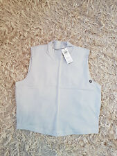 New Women's Abercrombie & Fitch Mock Neck Tank Size M light grey RRP £30