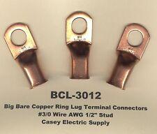 5 Bare Battery Copper Ring Lug Terminal Connector 30 Wire Gauge 12 Std Molex