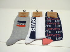 LOT Of 3-LEVI'S Logo Mens' Casual Socks Regular Cut -Size 8-12 NWT