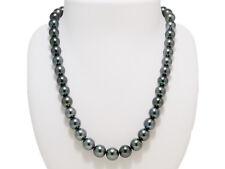 Aurora Lagoon Black Lipped 8.5mmX10.7mm Tahitian Black Pearl Necklace