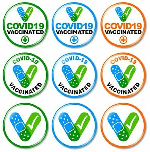 1 x Vaccinated 32mm BUTTON PIN BADGE Medical Health Alert Virus Vaccine Exempt