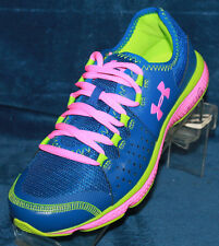 Girls Under Armour GGS Micro G Mantis Running Shoes Size 6 - 1241934-428
