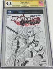 DC New 52 Harley Quinn #0 OA Sketch Signed & Sketched Alex Kotkin CGC 9.8 SS