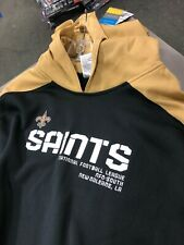 New Orleans Saints  Hooded Sweatshirt Hoodie MEN'S    REEBOK NFL BLACK