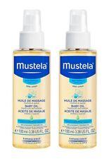 Mustela Baby Oil, 3.38 Oz (Pack of 2)